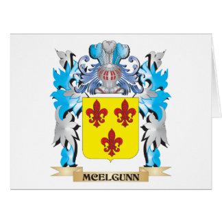 Escudo de armas de Mcelgunn - escudo de la familia Felicitaciones