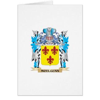 Escudo de armas de Mcelgunn - escudo de la familia Tarjeta