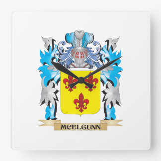 Escudo de armas de Mcelgunn - escudo de la familia Relojes De Pared