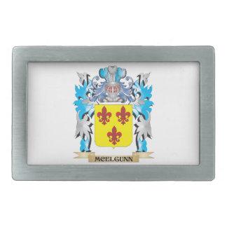 Escudo de armas de Mcelgunn - escudo de la familia Hebillas De Cinturon Rectangulares