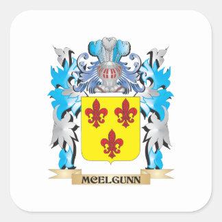 Escudo de armas de Mcelgunn - escudo de la familia Pegatina Cuadradas