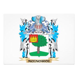 Escudo de armas de Mcenchroe - escudo de la Invitaciones Personalizada