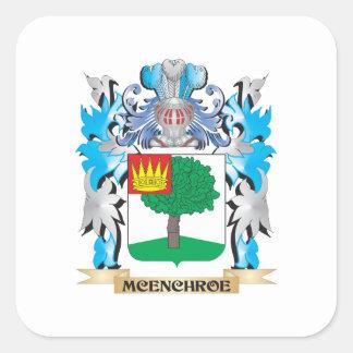 Escudo de armas de Mcenchroe - escudo de la Calcomanías Cuadradas Personalizadas