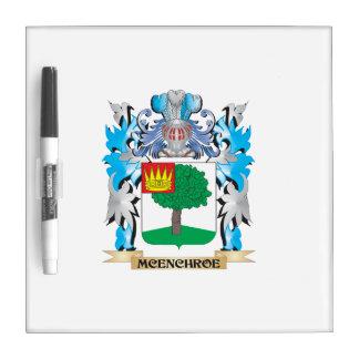 Escudo de armas de Mcenchroe - escudo de la Tableros Blancos