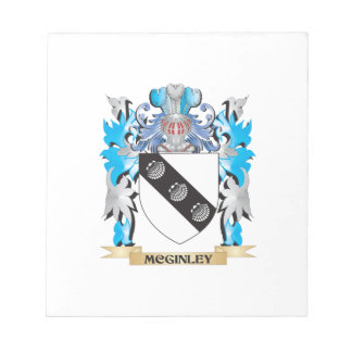 Escudo de armas de Mcginley - escudo de la familia Blocs De Notas