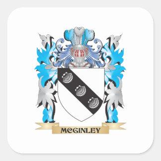 Escudo de armas de Mcginley - escudo de la familia Calcomanía Cuadradase