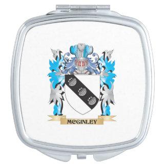Escudo de armas de Mcginley - escudo de la familia Espejos Maquillaje