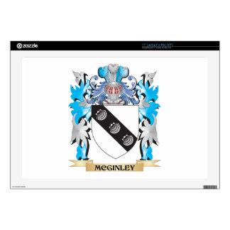 Escudo de armas de Mcginley - escudo de la familia Skins Para 43,2cm Portátil
