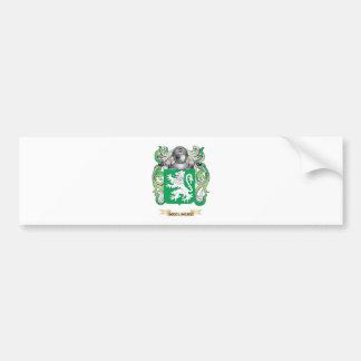 Escudo de armas de McGlinchy (escudo de la familia Etiqueta De Parachoque