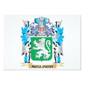 Escudo de armas de Mcglinchy - escudo de la Invitación 12,7 X 17,8 Cm