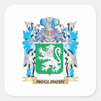 Escudo de armas de Mcglinchy - escudo de la Calcomanías Cuadradass Personalizadas