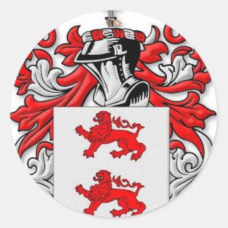 Escudo de armas de McGlynn Pegatina Redonda