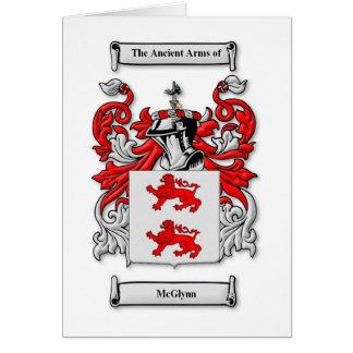 Escudo de armas de McGlynn Tarjeta De Felicitación