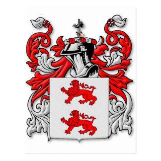 Escudo de armas de McGlynn Tarjeta Postal