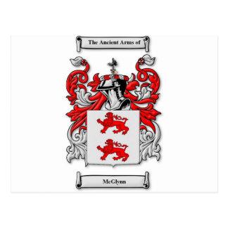 Escudo de armas de McGlynn Tarjetas Postales