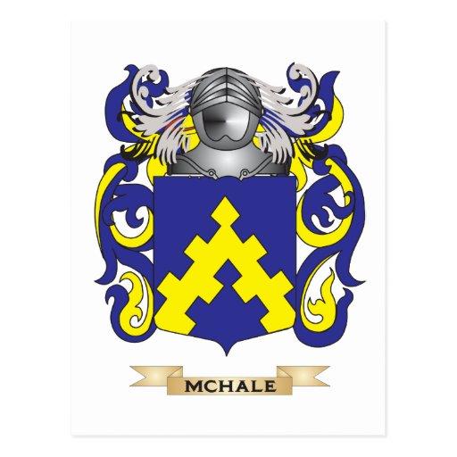 Escudo de armas de McHale (escudo de la familia) Tarjetas Postales