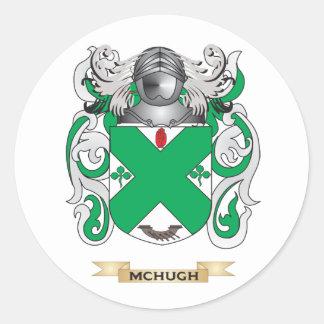 Escudo de armas de McHugh (escudo de la familia) Pegatina Redonda