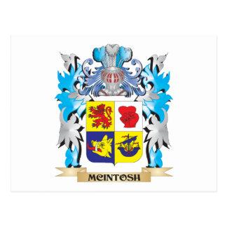 Escudo de armas de Mcintosh - escudo de la familia Tarjetas Postales