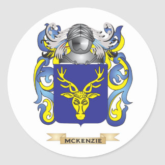 Escudo de armas de McKenzie (escudo de la familia) Pegatina Redonda