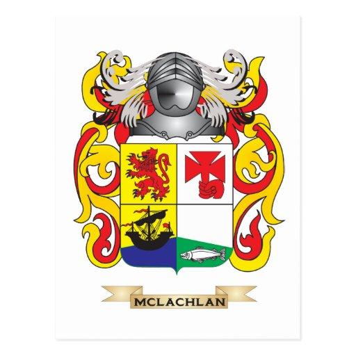 Escudo de armas de McLachlan (escudo de la familia Postales