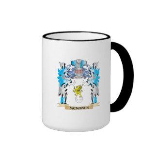 Escudo de armas de Mcmanus - escudo de la familia Taza A Dos Colores