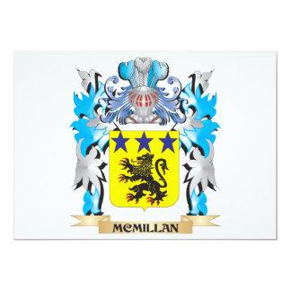 """Escudo de armas de Mcmillan - escudo de la familia Invitación 5"""" X 7"""""""