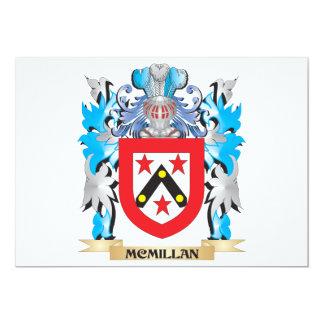 """Escudo de armas de Mcmillan- - escudo de la Invitación 5"""" X 7"""""""