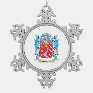 Escudo de armas de Mcnally - escudo de la familia Adorno De Peltre En Forma De Copo De Nieve