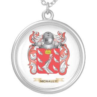 Escudo de armas de McNally (escudo de la familia) Colgante Redondo