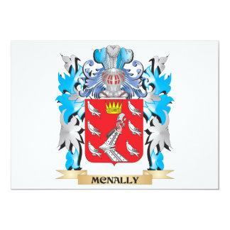 """Escudo de armas de Mcnally - escudo de la familia Invitación 5"""" X 7"""""""