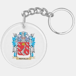 Escudo de armas de Mcnally - escudo de la familia Llavero Redondo Acrílico A Doble Cara