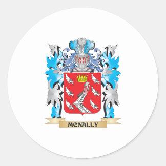 Escudo de armas de Mcnally - escudo de la familia Pegatina Redonda