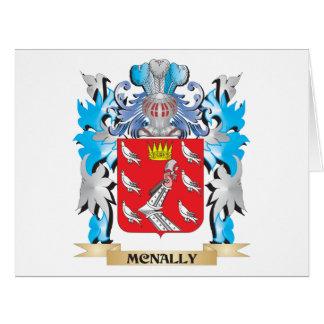 Escudo de armas de Mcnally - escudo de la familia Tarjeta De Felicitación Grande