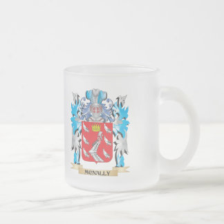 Escudo de armas de Mcnally - escudo de la familia Taza Cristal Mate