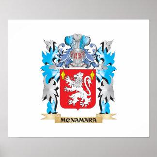 Escudo de armas de Mcnamara - escudo de la familia Póster