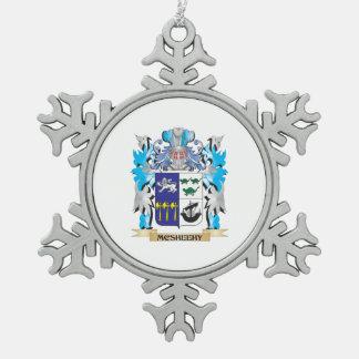 Escudo de armas de Mcsheehy - escudo de la familia Adorno De Peltre En Forma De Copo De Nieve