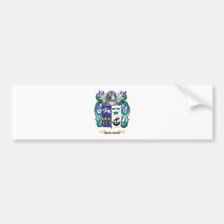 Escudo de armas de McSheehy (escudo de la familia) Pegatina Para Auto
