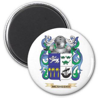 Escudo de armas de McSheehy (escudo de la familia) Imán Redondo 5 Cm