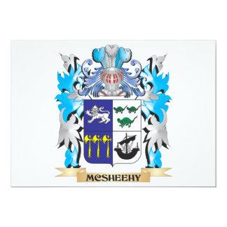 """Escudo de armas de Mcsheehy - escudo de la familia Invitación 5"""" X 7"""""""