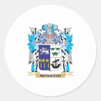 Escudo de armas de Mcsheehy - escudo de la familia Pegatina Redonda