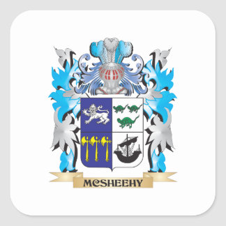 Escudo de armas de Mcsheehy - escudo de la familia Pegatina Cuadrada