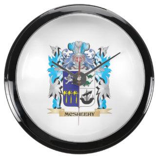Escudo de armas de Mcsheehy - escudo de la familia Reloj Aquavista