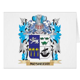 Escudo de armas de Mcsheehy - escudo de la familia Tarjeta De Felicitación Grande
