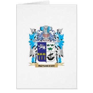 Escudo de armas de Mcsheehy - escudo de la familia Tarjeta De Felicitación