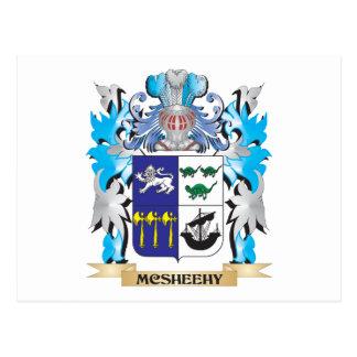 Escudo de armas de Mcsheehy - escudo de la familia Tarjeta Postal