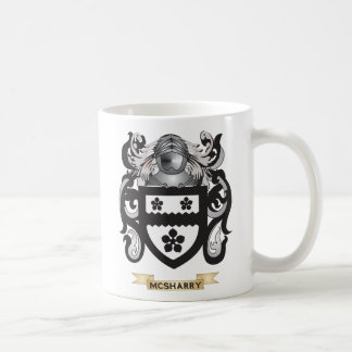 Escudo de armas de McSheehy (escudo de la familia) Taza Básica Blanca