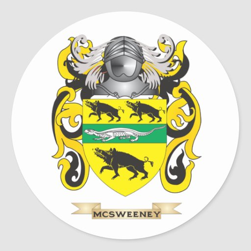 Escudo de armas de McSweeney (escudo de la Pegatinas Redondas