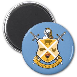 Escudo de armas de Meatatarian Imán De Frigorifico