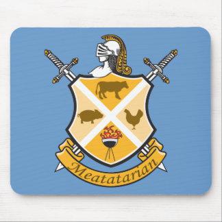 Escudo de armas de Meatatarian Alfombrillas De Ratón