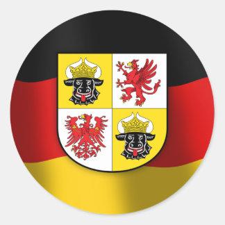 Escudo de armas de Mecklemburgo-Pomerania Pegatina Redonda